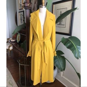 River Island Yellow Trench